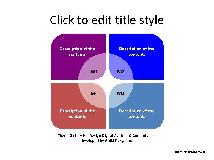 Click to edit title style Description of the contents M 1 M 2 M