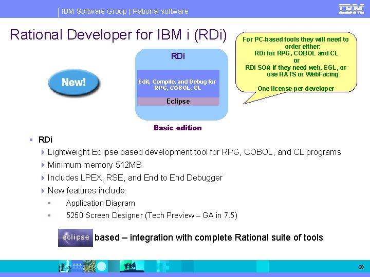 IBM Software Group   Rational software Rational Developer for IBM i (RDi) RDi Edit,