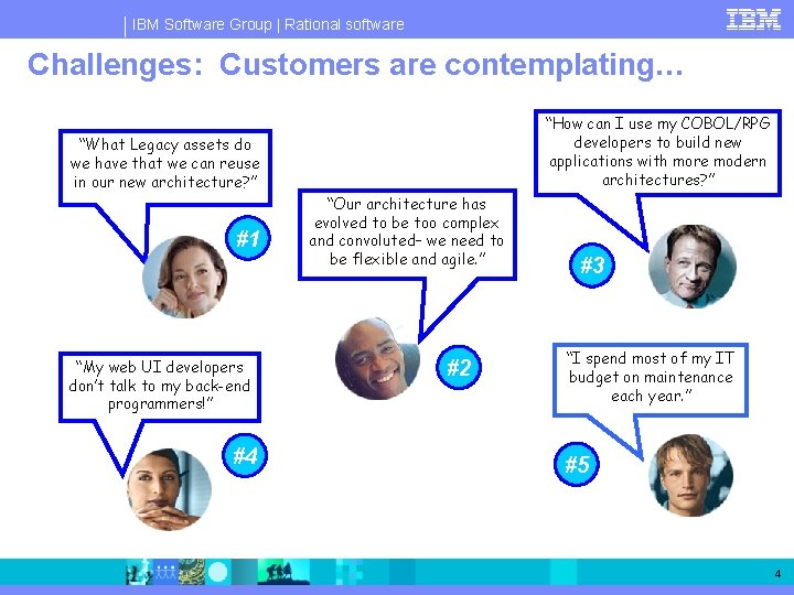 """IBM Software Group   Rational software Challenges: Customers are contemplating… """"How can I use"""