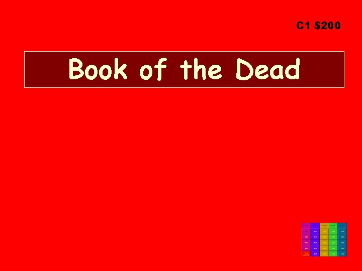 C 1 $200 Book of the Dead