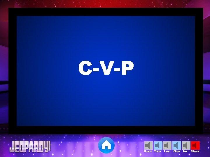 C-V-P Theme Timer Lose Cheer Boo Silence