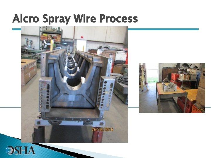 Alcro Spray Wire Process