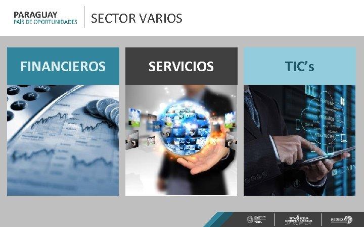 SECTOR VARIOS FINANCIEROS SERVICIOS TIC's