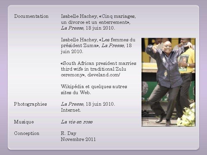 Documentation Isabelle Hachey, «Cinq mariages, un divorce et un enterrement» , La Presse, 18