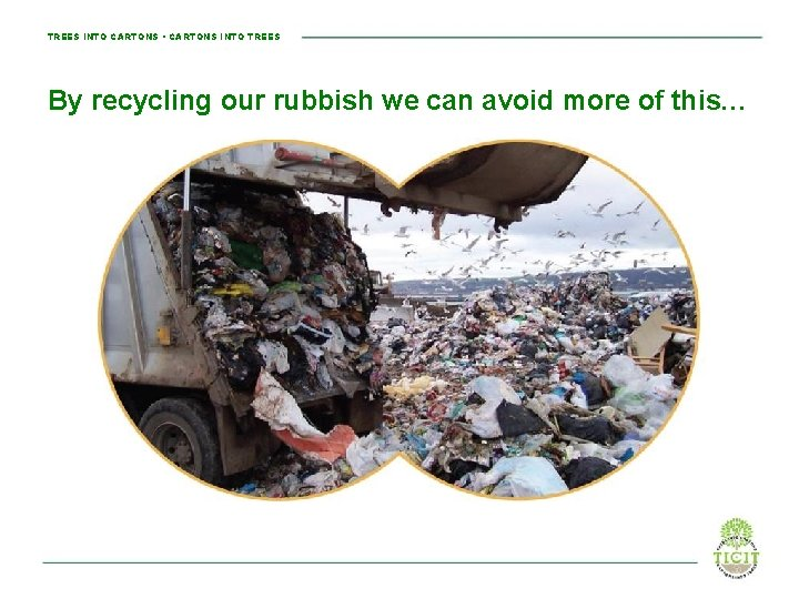 TREES INTO CARTONS • CARTONS INTO TREES By recycling our rubbish we can avoid