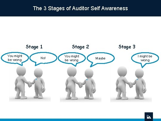 The 3 Stages of Auditor Self Awareness Stage 1 You might be wrong No!
