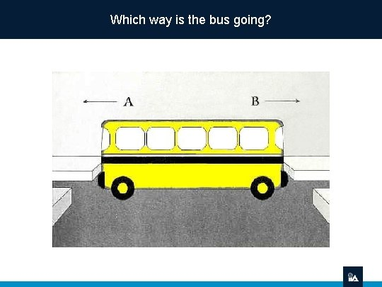 Which way is the bus going?