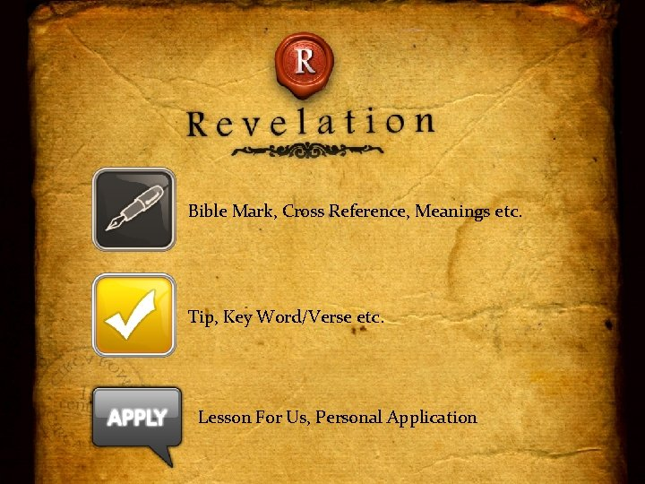 Bible Mark, Cross Reference, Meanings etc. Tip, Key Word/Verse etc. Lesson For Us, Personal