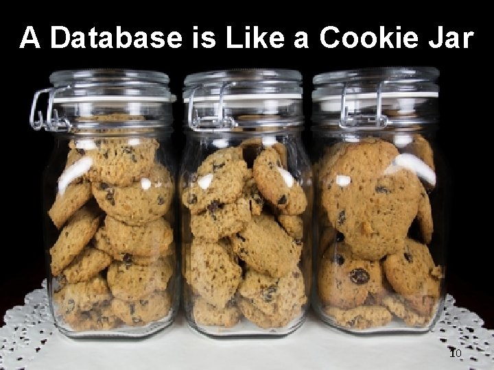 A Database is Like a Cookie Jar © 2019 NNEDV & Confidentiality Institute 10