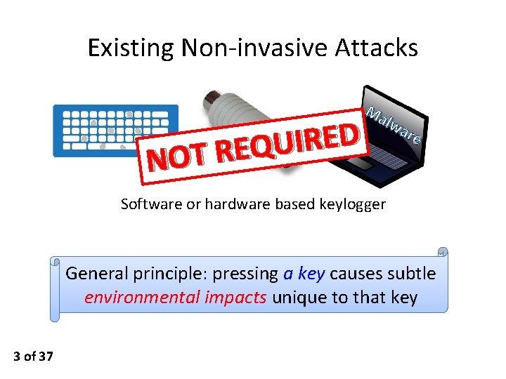 Existing Non-invasive Attacks D E R I U Q E R T NO Ma