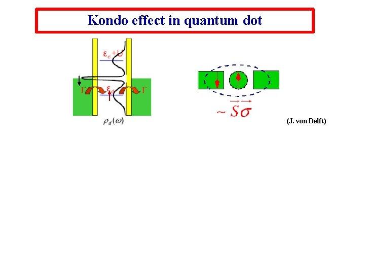 Kondo effect in quantum dot (J. von Delft)