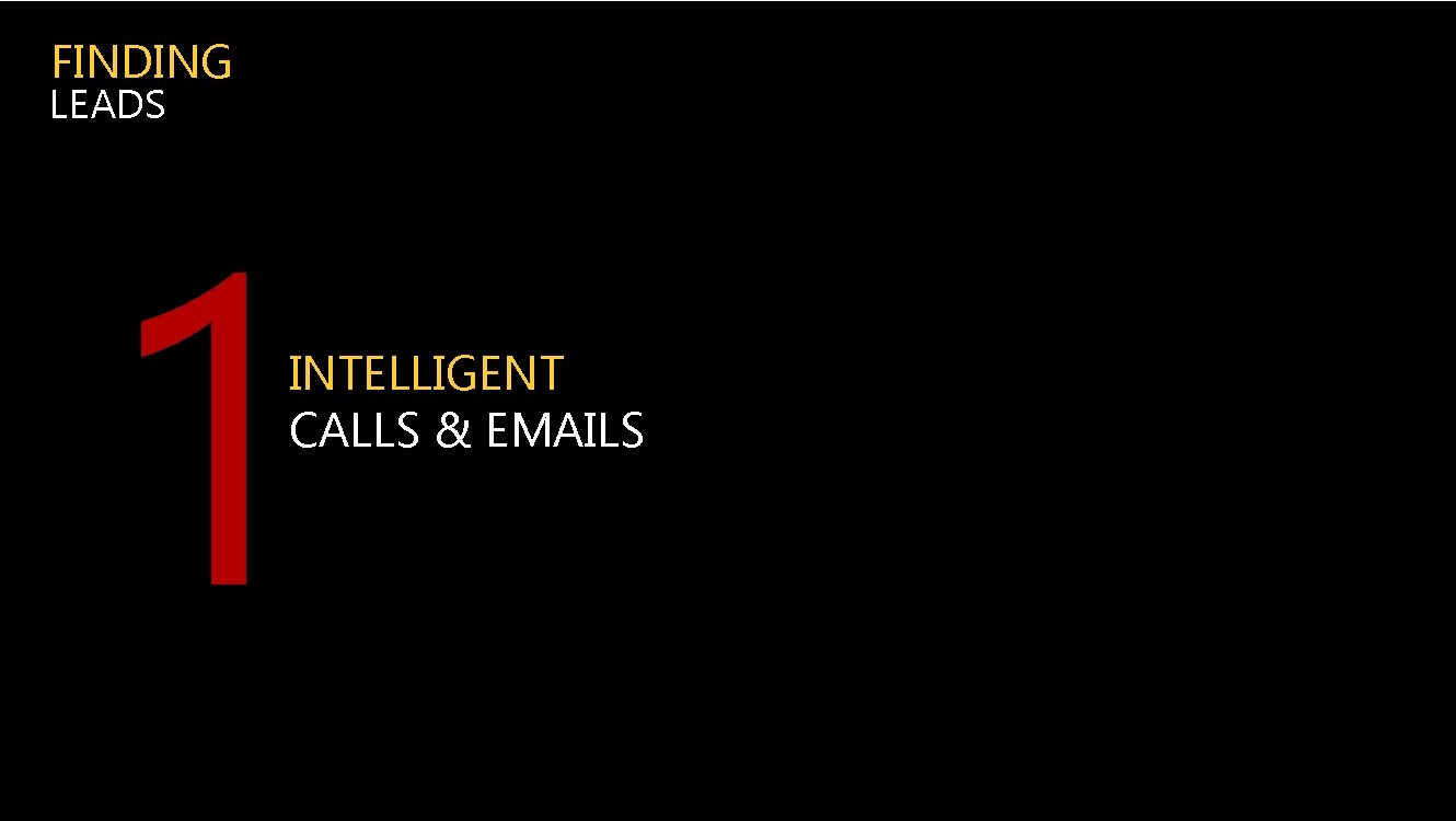 FINDING LEADS 1 INTELLIGENT CALLS & EMAILS