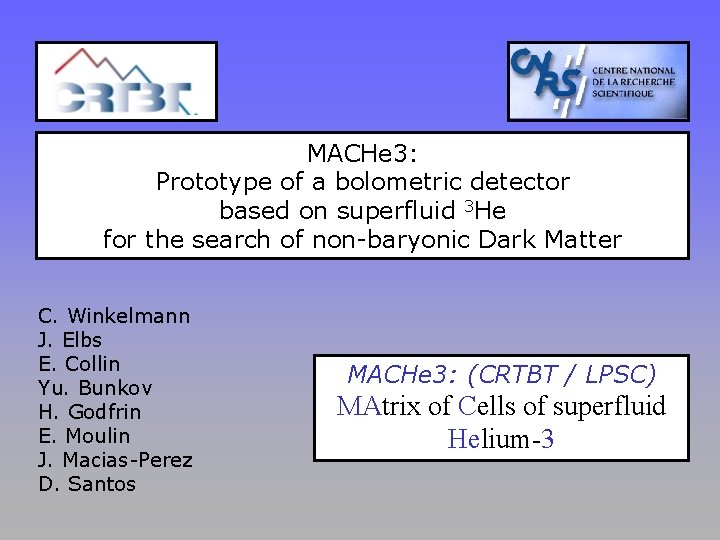 MACHe 3: Prototype of a bolometric detector based on superfluid 3 He for the