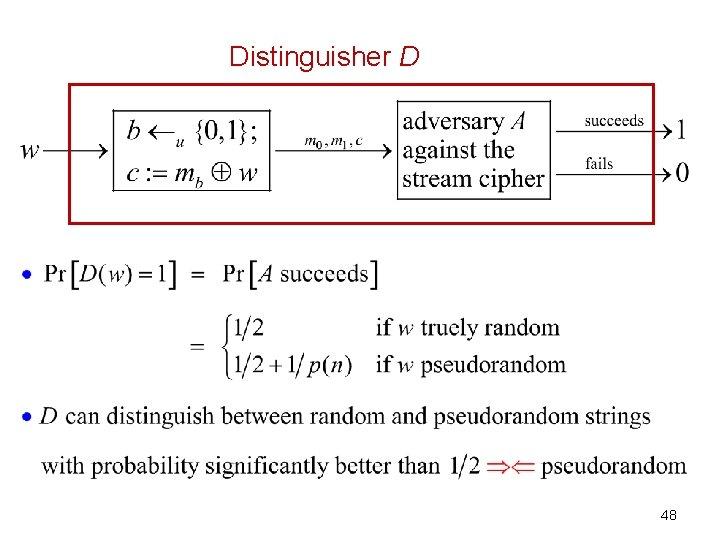 Distinguisher D 48