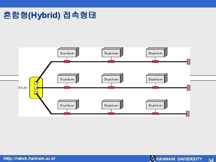 혼합형(Hybrid) 접속형태 Http: //netwk. hannam. ac. kr HANNAM UNIVERSITY
