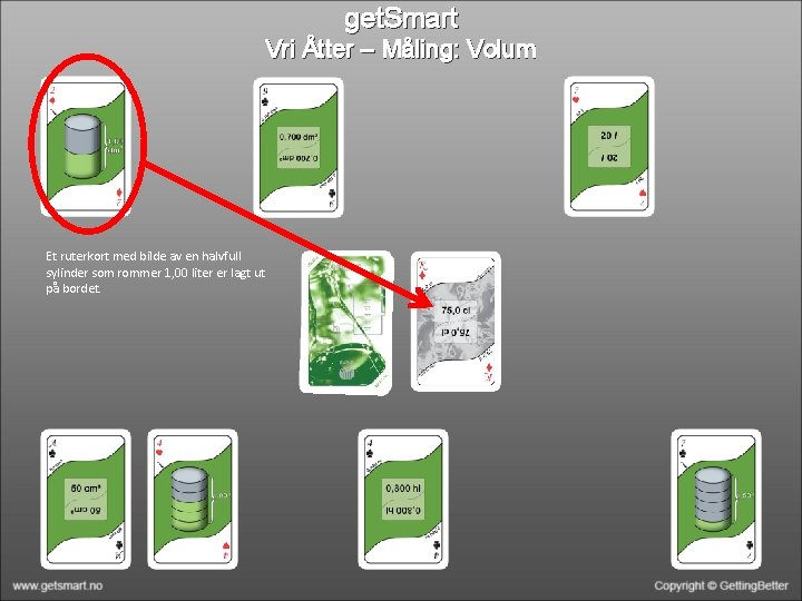 get. Smart Vri Åtter – Måling: Volum Et ruterkort med bilde av en halvfull