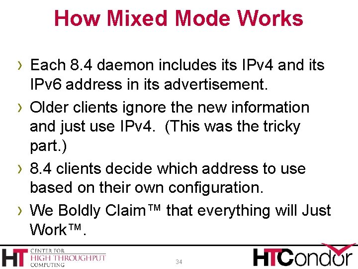 How Mixed Mode Works › Each 8. 4 daemon includes its IPv 4 and