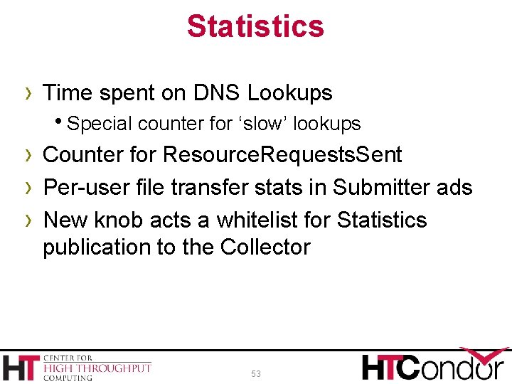 Statistics › Time spent on DNS Lookups Special counter for 'slow' lookups › Counter