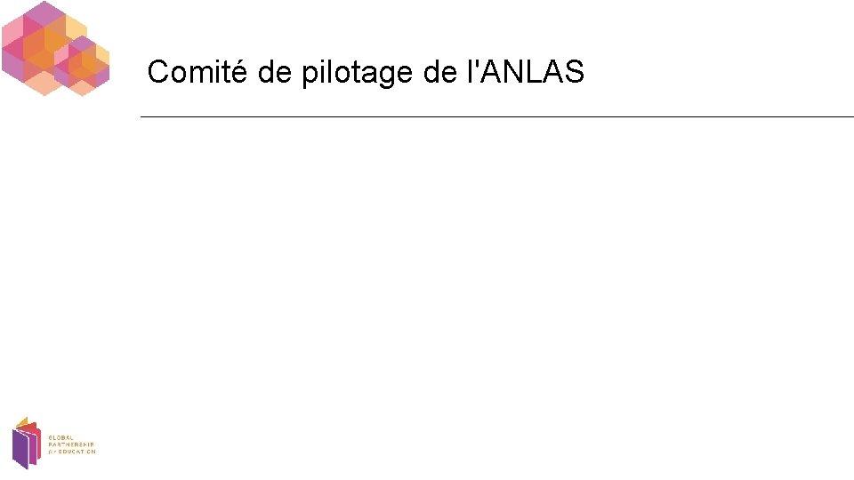 Comité de pilotage de l'ANLAS