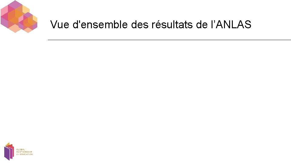 Vue d'ensemble des résultats de l'ANLAS