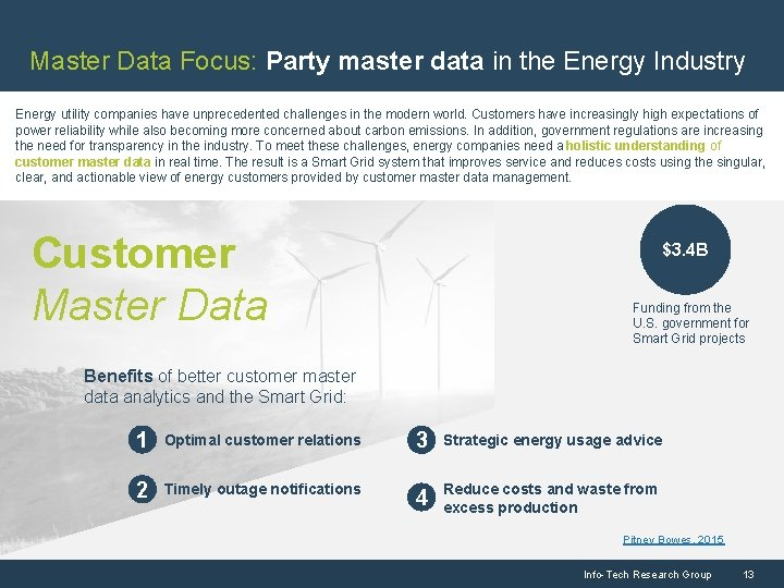 Master Data Focus: Party master data in the Energy Industry Energy utility companies have