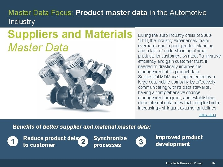 Master Data Focus: Product master data in the Automotive Industry Suppliers and Materials Master