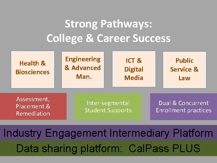 Strong Pathways: College & Career Success Health & Biosciences Assessment, Placement & Remediation Engineering