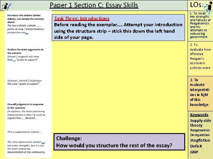 Reaganomics essay questions newspaper carrier terminology