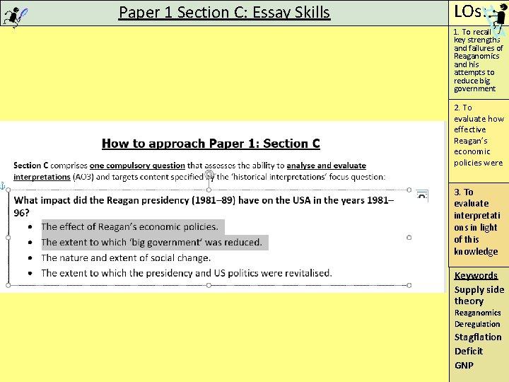 Reaganomics essay questions cheap phd presentation help