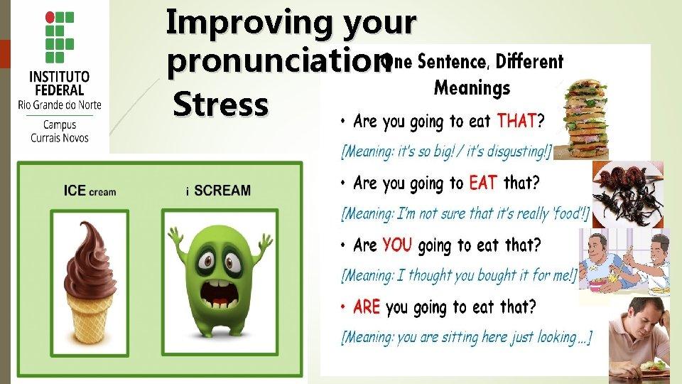 Improving your pronunciation Stress