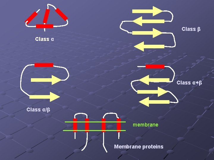 Class β Class α+β Class α/β membrane Membrane proteins