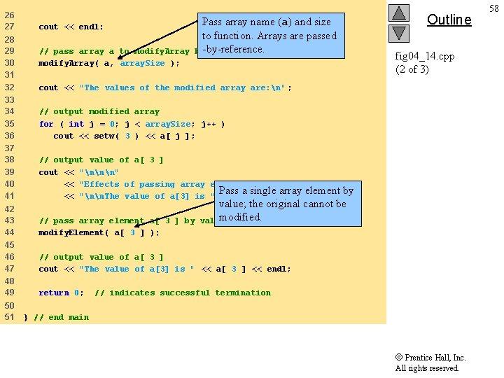26 27 cout << endl; 28 29 30 31 32 modify. Array( a, array.