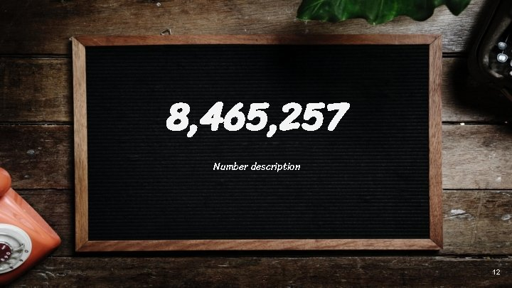 8, 465, 257 Number description 12