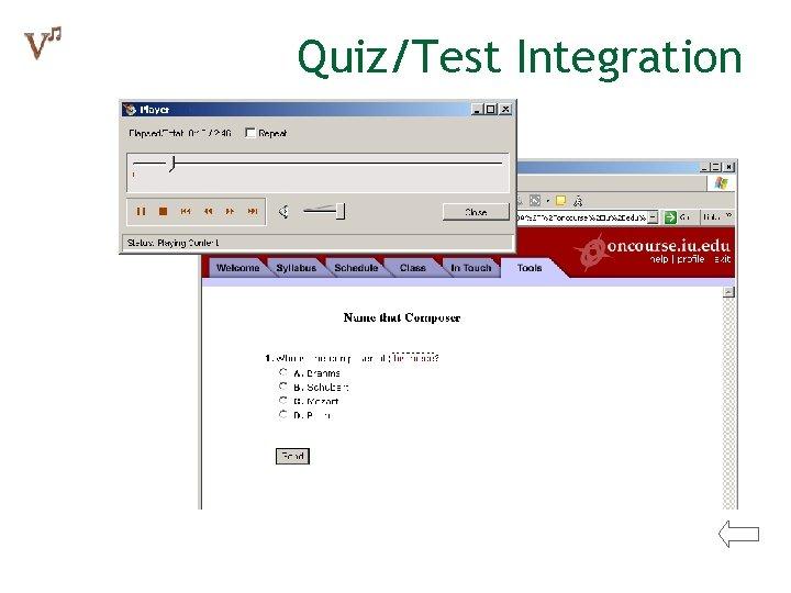 Quiz/Test Integration