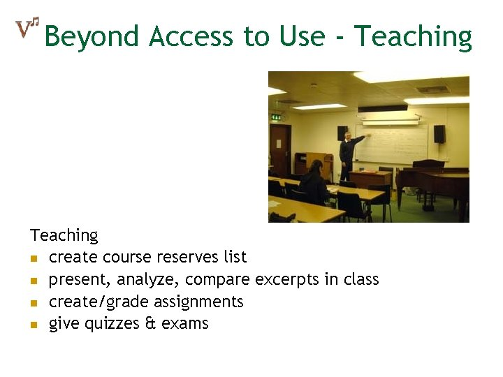 Beyond Access to Use - Teaching n create course reserves list n present, analyze,