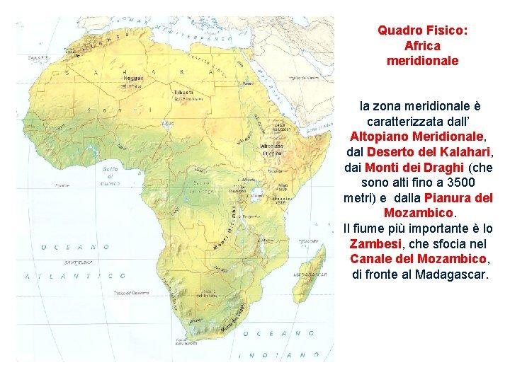 Cartina Geografica Dell Africa Fisica.L Africa Posizione Geografica Canale Di Suez Tropico