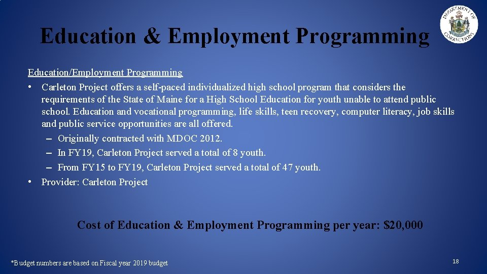 Education & Employment Programming Education/Employment Programming • Carleton Project offers a self-paced individualized high