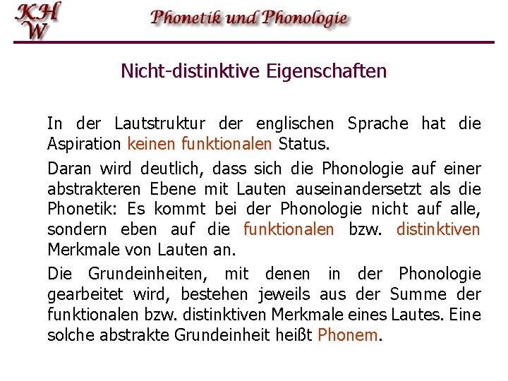 Einfhrung In Die Phonetik Und Phonologie Grundbegriffe Phonetik