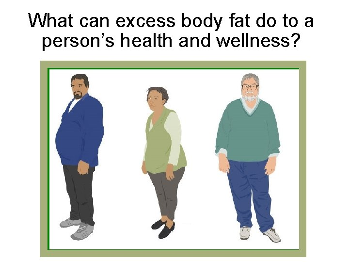 What can excess body fat do to a person's health and wellness?