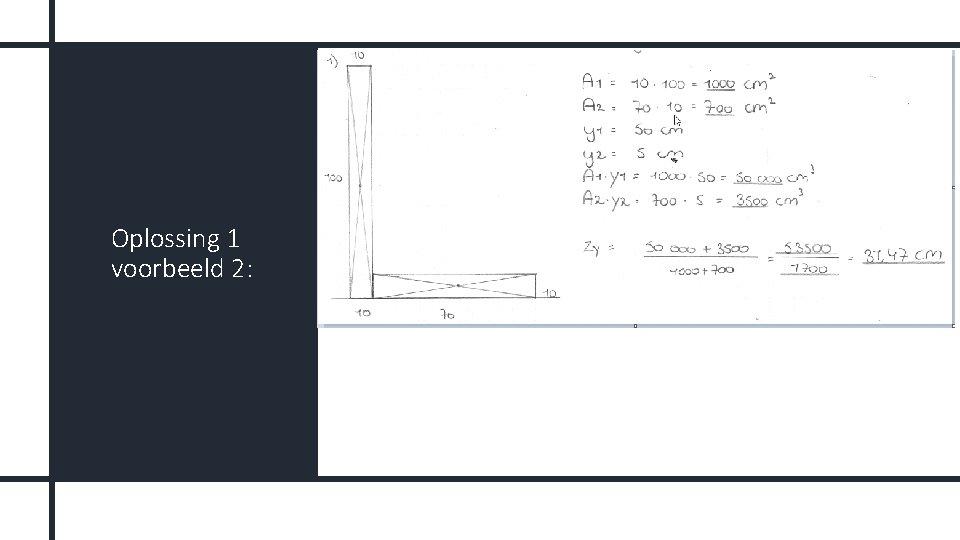 Oplossing 1 voorbeeld 2: