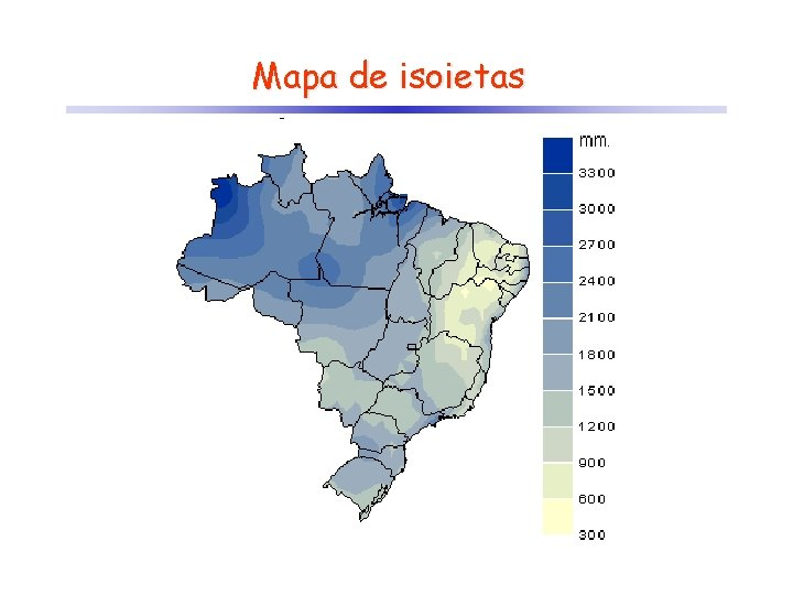 Mapa de isoietas