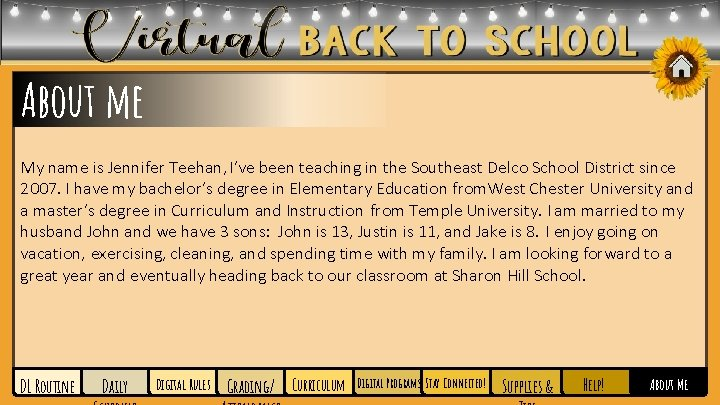About me My name is Jennifer Teehan, I've been teaching in the Southeast Delco