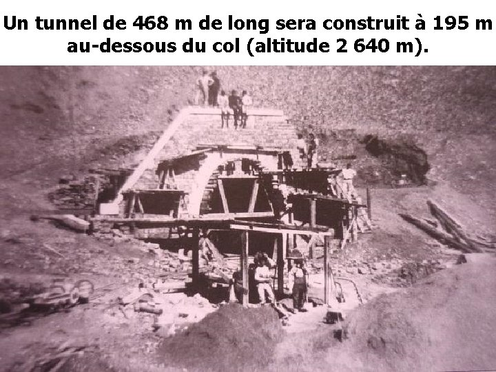 Un tunnel de 468 m de long sera construit à 195 m au-dessous du