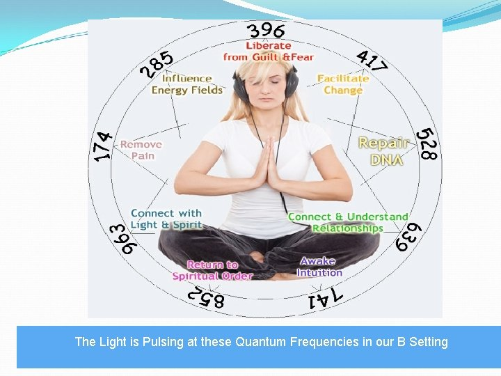 The Light is Pulsing at these Quantum Frequencies in our B Setting