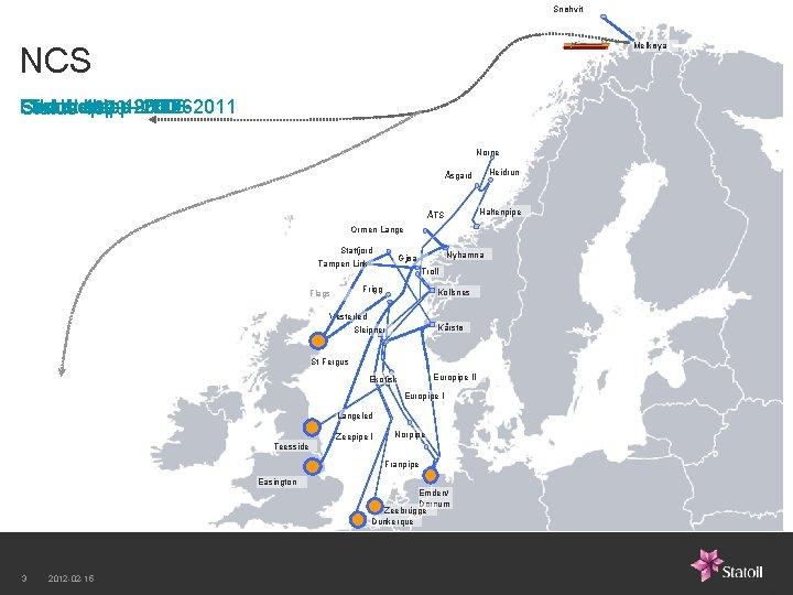 Snøhvit Melkøya NCS First Fourth Thirdstep – -1985 – 2000 Second step -2006 -2011