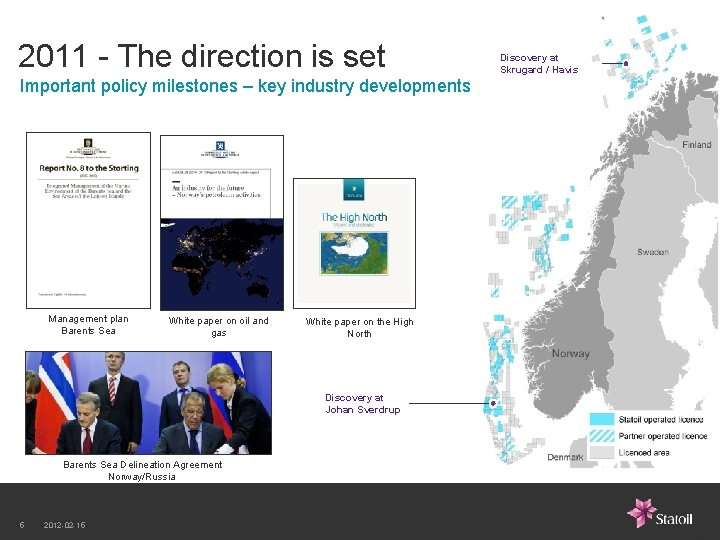 2011 - The direction is set Important policy milestones – key industry developments Management