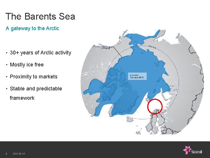 The Barents Sea A gateway to the Arctic • 30+ years of Arctic activity