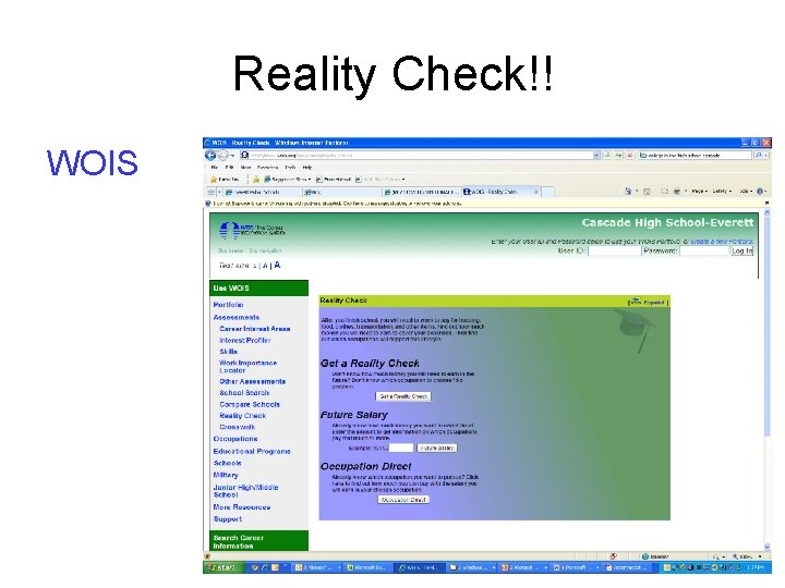 Reality Check!! WOIS