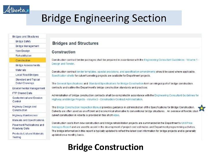 Bridge Engineering Section Bridge Construction