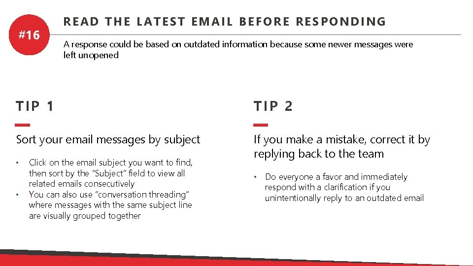 Back an responding email to How to